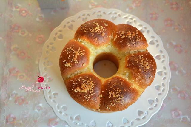 红豆沙酥粒面包