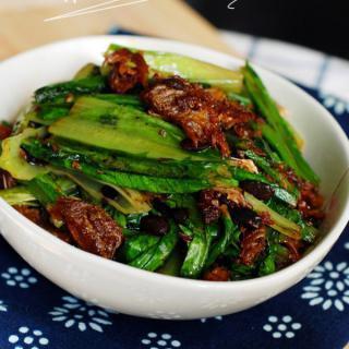 豆豉鲮鱼油麦菜的做法,豆豉鲮鱼油麦菜