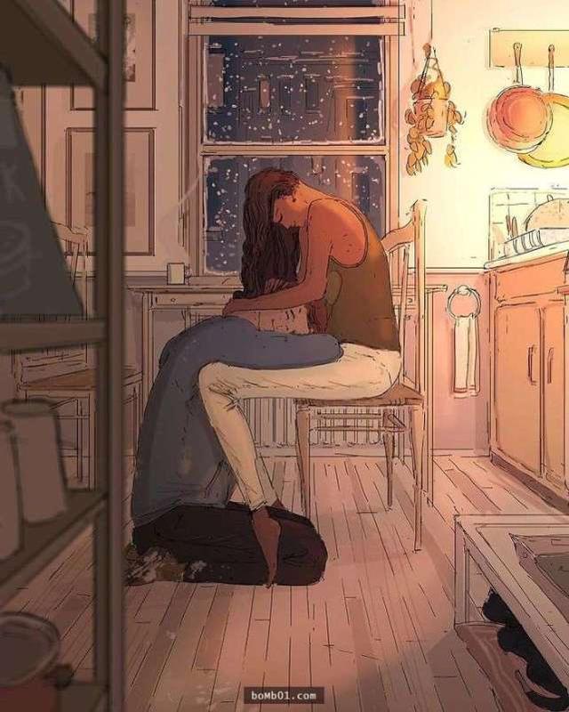 恋爱漫画,24幅情侣日常漫画告诉你,爱在点滴之间