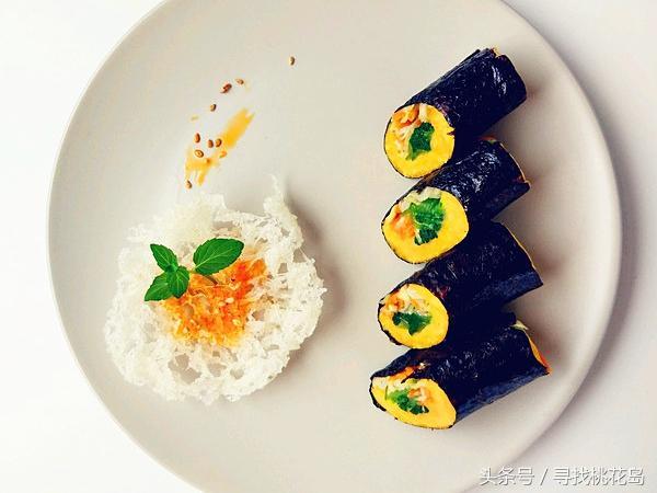 159素食的吃法,创意素食新吃法,这种紫菜包饭不用米饭,低脂减肥,好吃又刮油