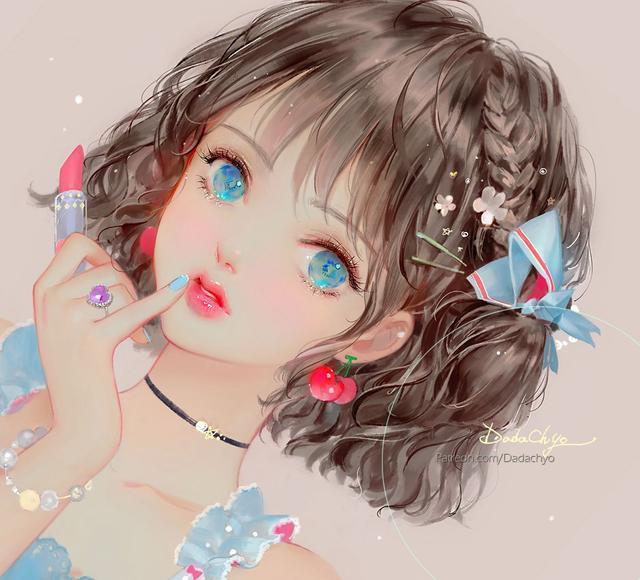 漫画女人物,韩国插画师DADACHYO笔下的精美动漫少女插画图集欣赏