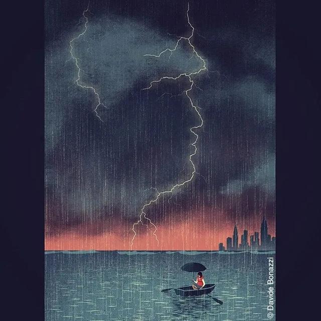 寓意的图片,Davide Bonazzi 插画作品欣赏,内涵深意
