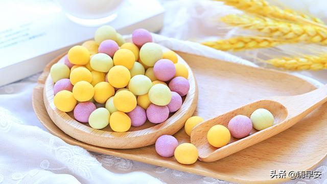 奶花豆的吃法,一搓一烤,自制果蔬奶豆,香甜酥脆,小小圆圆的孩子超爱吃