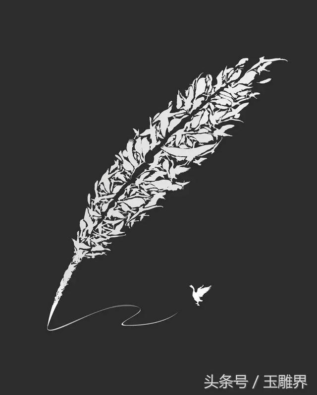 """羽毛的寓意,翡翠""""羽毛""""质感比真实羽毛还好,看的很舒服"""