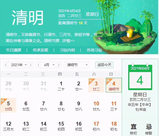 """4月1日是什么节日啊,清明将至!此节的由来、农时意义如何?""""四点禁忌""""要注意"""