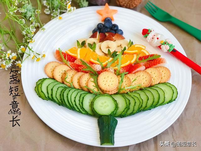树怎么做,用蔬果给孩子做1棵可以吃的圣诞树,花钱不多超简单,好吃更好看