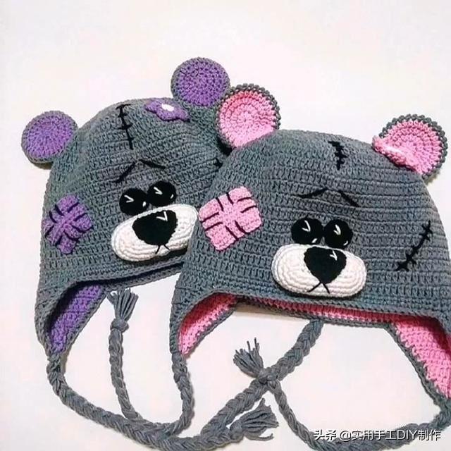 婴儿帽子,「针织作品」20款宝宝的可爱帽子,喜欢的可以模仿