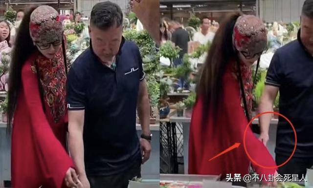 杨丽萍图片,63岁杨丽萍逛花市,男友人贴心照顾,为跳舞两度离婚,至今无儿女