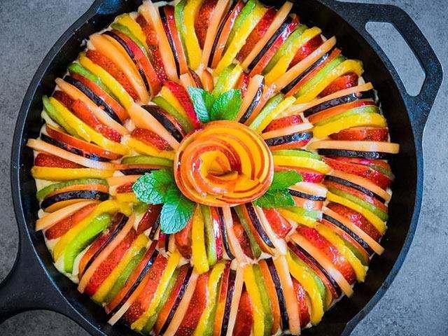 水果拼盘图片大全大图,这7种水果拼盘,女人小孩都爱,学会了家庭聚会超有面子!