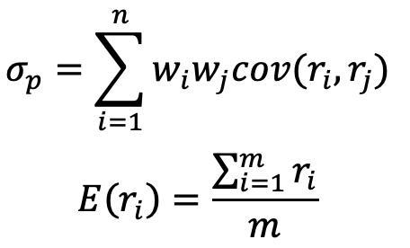 投资组合理论,马科维茨投资组合模型