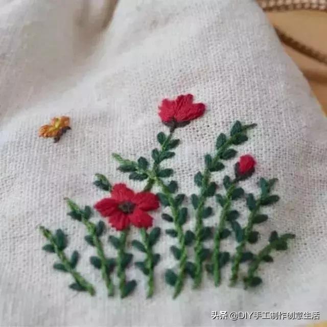 刺绣图片,如果你是一个刺绣新手,这43款花草刺绣图案建议收藏