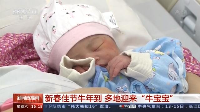 """对出生婴儿的祝福语,新春佳节牛年到 多地迎来""""牛宝宝"""""""
