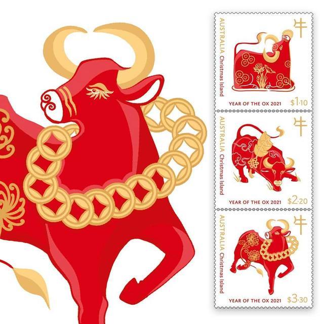 """属牛摆件,""""牛""""出圈了!多国发行牛年生肖邮票,你收藏了吗?"""