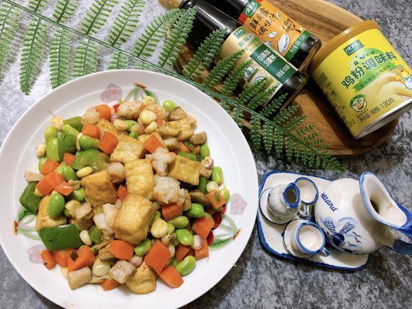 青豆虾仁的做法,鲜味杂炒舀着吃!豆腐虾仁青豆粒
