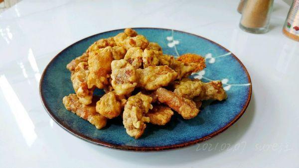 红薯淀粉的吃法,这道椒盐薯粉炸酥肉,分分钟光盘