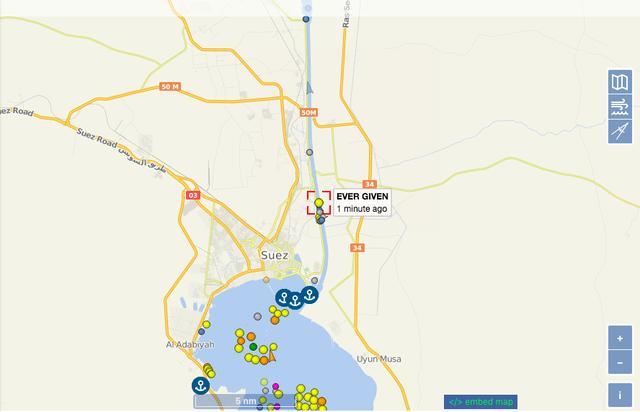 路透:封锁苏伊士运河的巨型货船已开始移动 全球新闻风头榜 第1张