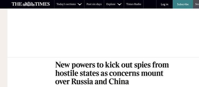 """学美国?约翰逊将宣布针对""""敌对国家""""新法案,英媒:对象包括中俄 全球新闻风头榜 第1张"""
