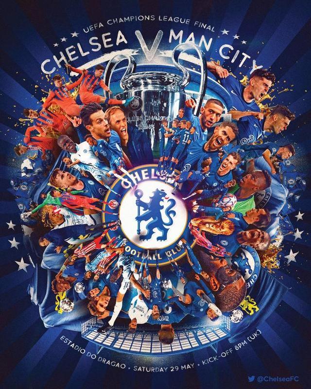 切尔西、曼城发布欧冠决赛海报,大战一触即发 全球新闻风头榜 第1张