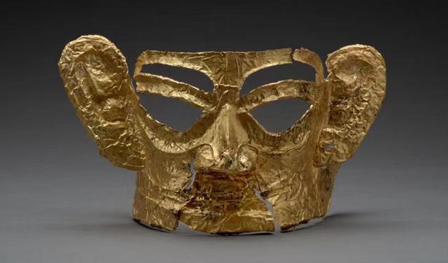 """40cm*27cm,最大的完整金面具!三星堆为何""""金成堆""""?"""