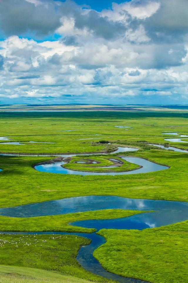内蒙古大草原图片,美成天堂的呼伦贝尔大草原