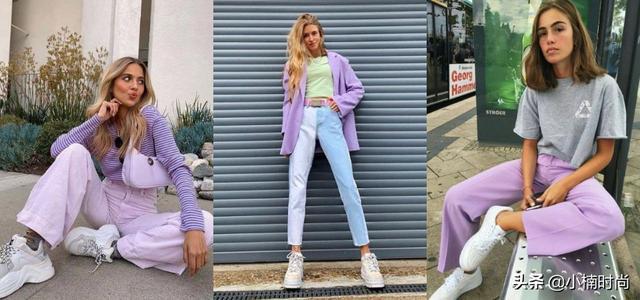 薰衣草图片,淡淡紫色有点甜,这个春夏试试迷人的薰衣草紫搭配吧