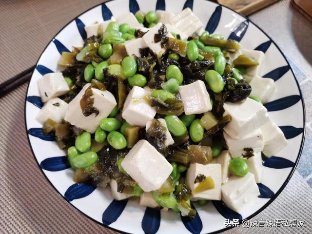 咸菜的吃法,山珍海味也代替不了的一碗咸菜滚豆腐,菜无贵贱开胃落胃就好