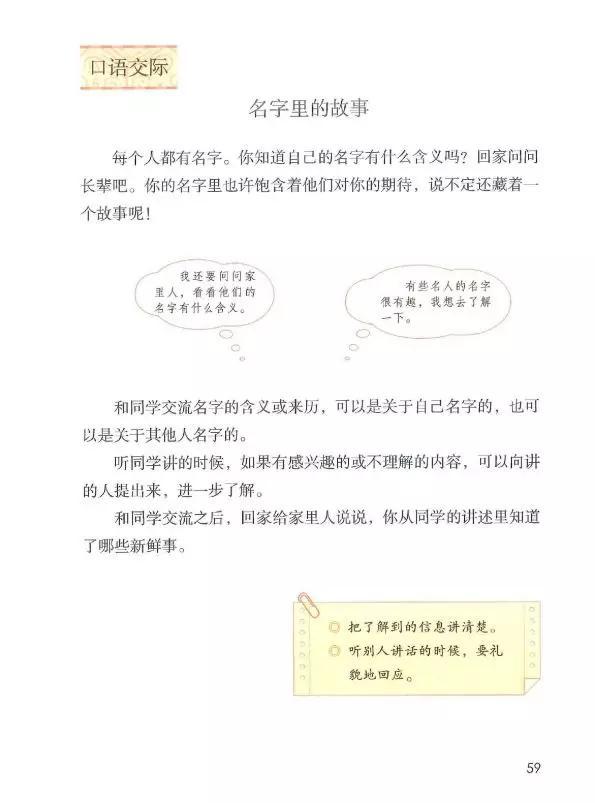 故事的意义,部编版三年级上册语文口语交际四《名字里的故事》图文讲解
