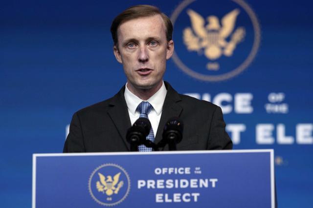 """美国安顾问:拜登坚信美国应""""从实力地位""""出发,不让中国制定规则"""