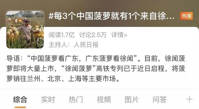 菠萝的品种,徐闻菠萝VS台湾凤梨,网友:不用比啦,徐闻菠萝都坐高铁专列了