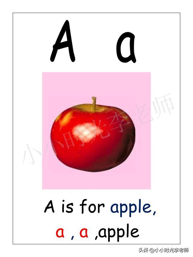 「英语」 26个英语字母、易记对应单词、英语字母卡片