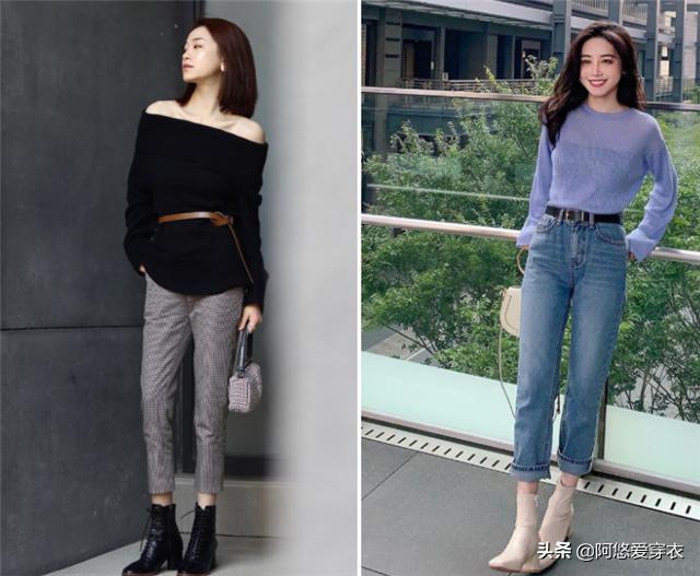 """身高仅158的女生,发起多穿""""九分裤+低跟靴"""",优化比例还特显高5857 作者:admin 帖子ID:23449"""