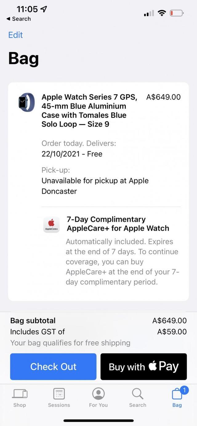 苹果在澳大利亚售出的新产品将免费附送7天AppleCare+服务