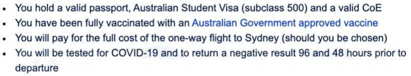澳洲留学生返澳日期地点终于确定!各大学公布返澳要求细则