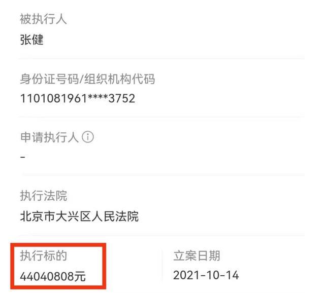 张若昀父亲被执行4400万,欠款共2.9亿,曾冒充儿子签合同被起诉