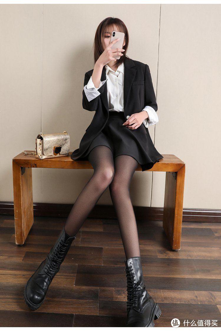 絲襪穿搭:8套秋季穿搭,西裝配絲襪是多麼神奇的組合 形象穿搭 第9張