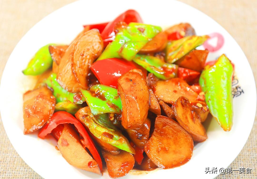 【小炒杏鲍菇】做法步骤图 杏鲍菇鲜嫩入味 不油腻