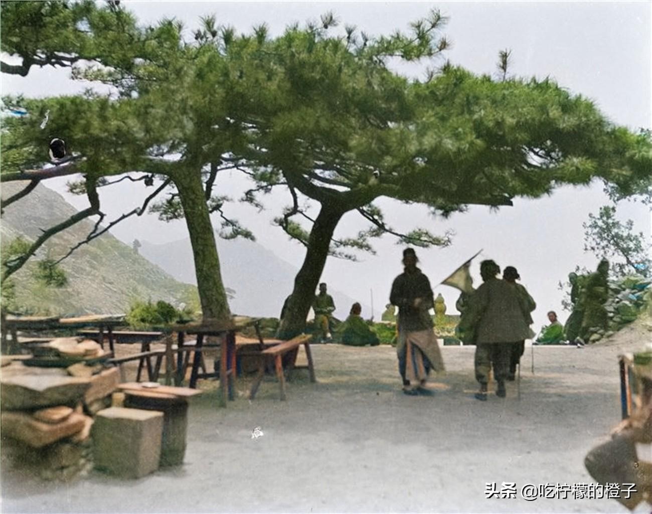 老照片:1919年的山东泰山,外国人镜头下100年前雄浑壮丽的岱岳