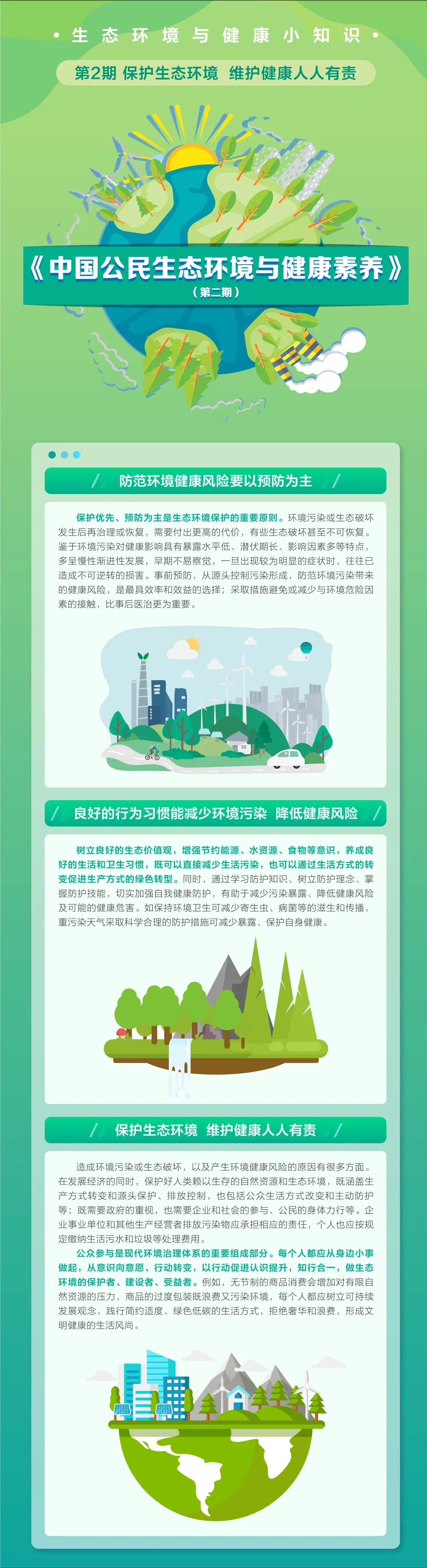 生态环境与健康小知识   第2期 保护生态环境、维护健康人人有责